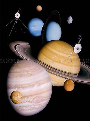 Space Impression Planet Solar System Voyager Large Poster Art Print Bb3245A