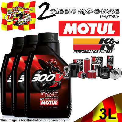 3L Litres Motul 300V 10W40 Oil And K&n Kn564 Filter Change Buell 1125 Cr 09 2009