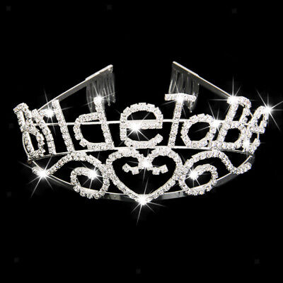Bride To Be Tiara Bachelorette Party Crown Crystal Rhinestone Headband