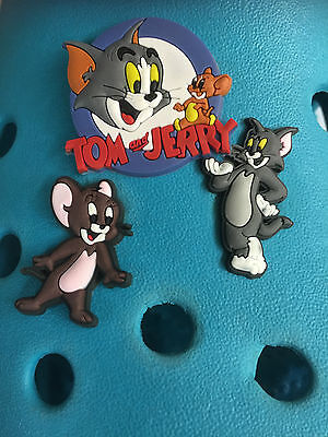 3 Tom & Jerry Shoe Charms For Crocs & Jibbitz Wristbands. Free UK P&P