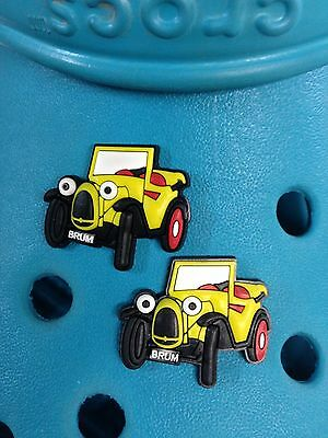 2 Brum Shoe Charms For Crocs & Jibbitz Wristbands. Free UK P&P