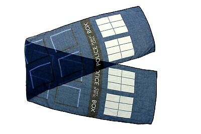 Doctor Who Police Public Call Box Tardis Navy Blue LIGHTWEIGHT Scarf