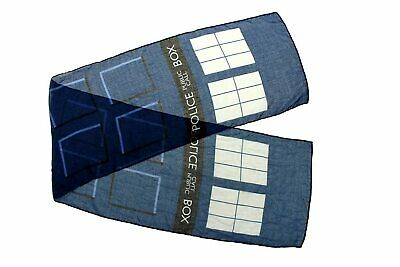 TV Show Doctor Who Police Public Call Box Tardis Navy Blue LIGHTWEIGHT Scarf