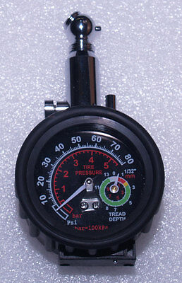 Tyre Pressure Gauge With Tread Depth Indicator