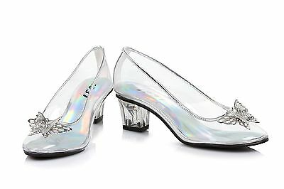 Clear Glass Slippers Disney Princess Cinderella Costume Shoes Girls Toddler 9 10