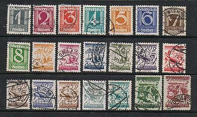 STAMPS AUSTRIA 1925-27  DEFINITIVES  1g to  2S  part set (FU/USED) lot A228