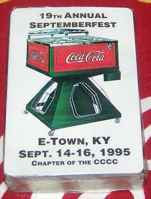 Mip Usa Le Deck Coca~Cola E-Town Ky Septemberfest 1995 Coke Cooler Playing Cards