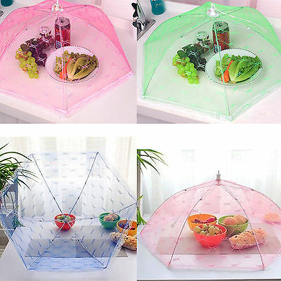 Kitchen Food Umbrella Cover Picnic Barbecue Party Fly Mosquito Mesh Net Tent NEW