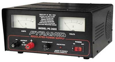 New PYRAMID PS26KX 25 AMP 6 Volt-15 Volt AC to DC Regulated Power Supply