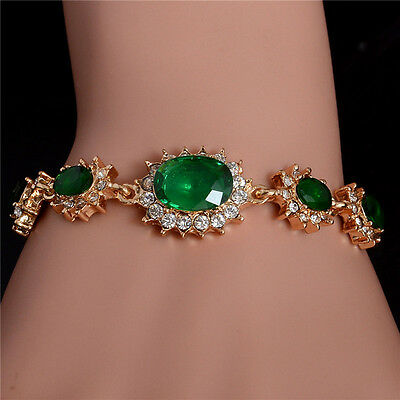 Women 18k Gold Plated Charming New Colorful Australian Crystal Bracelet Jewelry