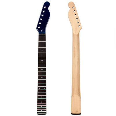 Electric Guitar Neck Rosewood For TL Replacement Blue Gloss Headstock 22 Fret