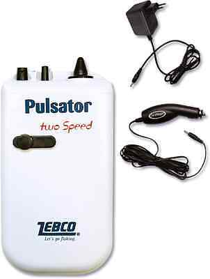 Zebco NEW Multi Pulsator 12v/240v/Battery Aerator/Air/Live Bait Pump