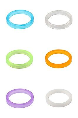 """One23 Bike Headset Spacer 1 1/8"""" 28.6mm Polycarbonate 5mm with Choice of Colour"""