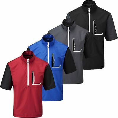 56% OFF RRP Stuburt Cyclone Water Repellent Short Sleeve Mens Golf TOP Windshirt