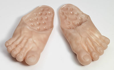Adult Vinyl Clown Big Slippers Ogres Hobbit Caveman Costume Jumbo Bare Feet Foot