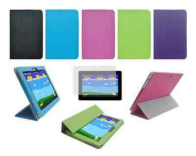 Folio Cover Case and Screen Protector for ASUS Memo Pad FHD 10 ME302C Tablet