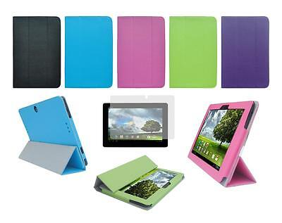 Folio Skin Cover Case and Screen Protector for ASUS Memo Pad Smart ME301T Tablet