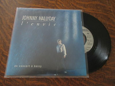 45 tours johnny hallyday en concert a bercy l'envie