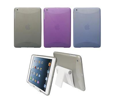 View Stand Holder + TPU Gel Skin Case Cover for Apple iPad Mini 1st Generation