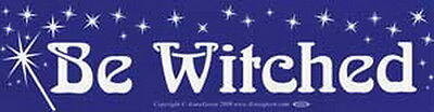BUMPER STICKER: BE WITCHED   - Wicca Witch Pagan Goth