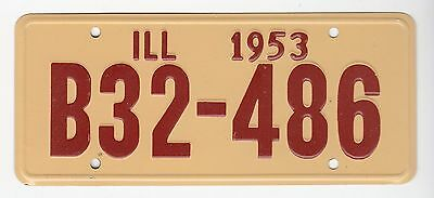 [56102] 1953 General Mills Cereal Prize Illinois License Plate