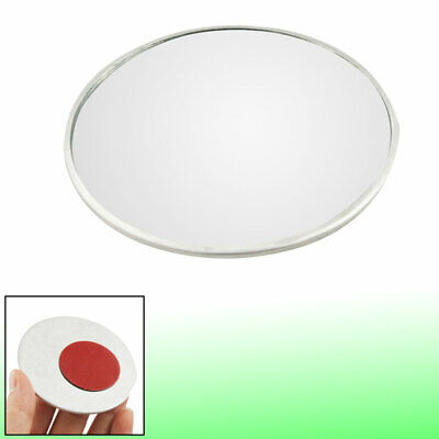 """Silver Tone 3"""" Auto Car Wide Angle Round Convex Side Rearview Blind Spot Mirror"""