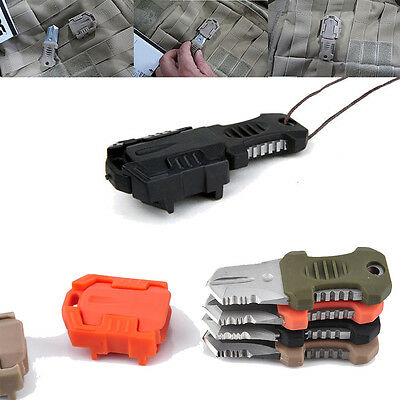 Multifunction EDC Knife Pocket Survival Tool MOLLE Webbing Buckle Self Defence