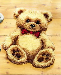 NEW | Vervaco 2566/37.055 | Teddy With Red Heart Rug Latch Hook Kit | 45 x 60cm