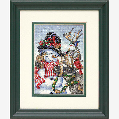 NEW | Dimensions D08824 Snowman & Reindeer Christmas Counted Cross Stitch Kit