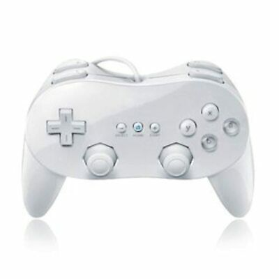 Classic Pro Controller For Wiiu White For Wii Brand New 9Z