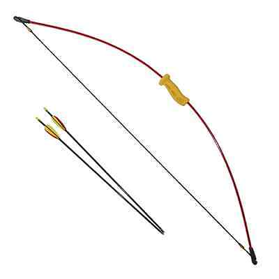 Recurve Bow and Arrow Set (51' - 15lb with 2 arrows, quiver, finger tab, target)