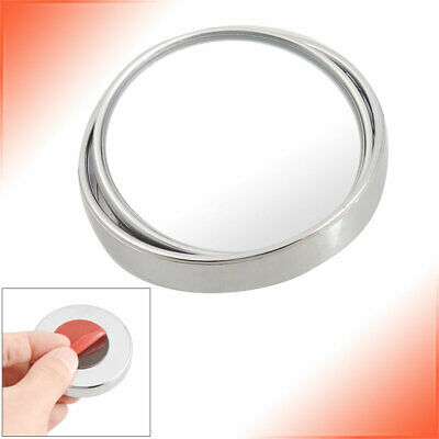 """Silver Tone 2"""" Wide Angle Car Auto Round Convex Side Rear View Blind Spot Mirror"""
