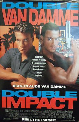 Double Impact Original Double Sided Movie Poster Jean Claude Van Damme 1991