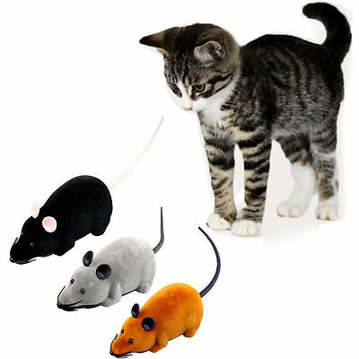 Pet Wireless Remote Control Rat Mouse Toy Moving Mouse For Cat Playing Chew Toys