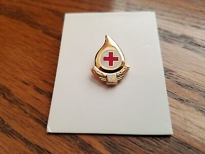 Red Cross Blood Donor 24 Gallon Pin, New