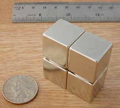 "MAGNETS Neodymium CUBES 3/4"" - 4pcs - ONLY $8.00 each"