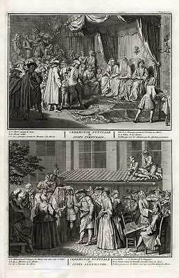 Antique Print-JEWISH-JUDAISM-MARRIAGE-MUSIC-Picart-1727