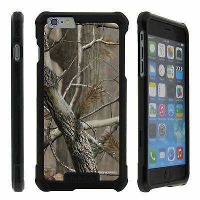 For Apple Iphone 6s Snap On Slim Fit Case Cover Hard Camo Tree Hunters Black