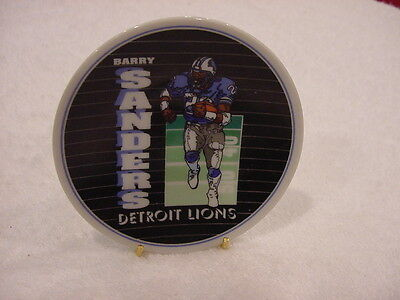 SWEET Barry Sanders 1992 Sports Impression Collector Plate, Detroit Lions, MINT!