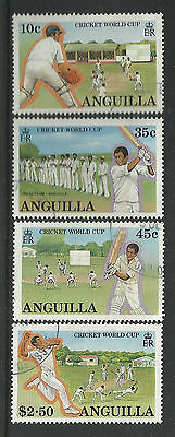 ANGUILLA 1987 ICC CRICKET WORLD CUP Set 4 Values FINE USED