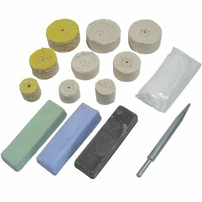 "Mini Metal Polishing Kit Coarse Medium and Fine Mops 1"" / 1.5"" / 2"" Mops POL02"