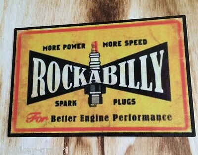 "US V8 Car Ratrod / Retro / Oldschool Sticker "" Rockabilly "" / Aufkleber"