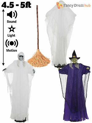 5ft Walking Witch Ghost Animated Halloween Party Decoration Prop Sound Activate