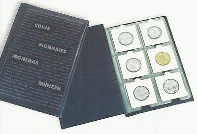 LIGHTHOUSE NUMIS DARK BLUE COIN WALLET Holds SIXTY 2 x 2 HOLDERS