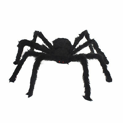 HOT 1pcs Plastic Black Spider Trick Toy Party Decor Halloween Haunted House Prop