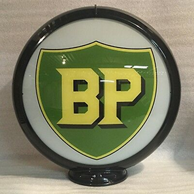 BP Gas Pump Globe Sign Glass Lenses Home Farm Shop Garage Filling Station Decor
