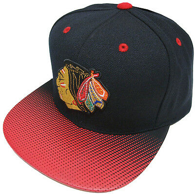 Mitchell & Ness Chicago Blackhawks Stop On A Dime Snapback Cap NZ57Z Basecap New
