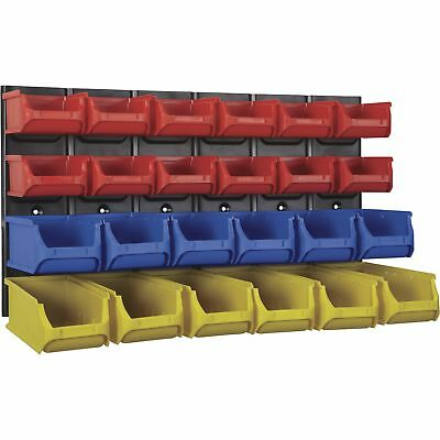 Ironton Metal Wall-Mount Rack w/24 Bins