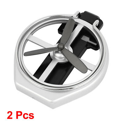 Car Motor Air Condition Vent Foldable Drink Holder Silver Tone Black 2 Pcs