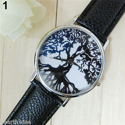 TREE OF LIFE WATCH WITH BLACK STRAP Wicca Witch Pagan Goth Druid